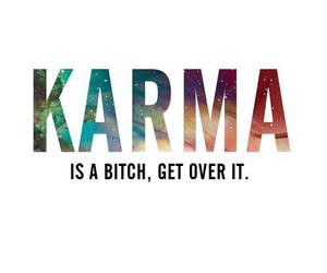 karma, bitch, and quote image