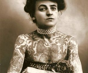 tattoo, woman, and vintage image