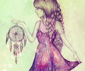 girl, Dream, and drawing image
