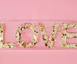 love, pink, and glitter image