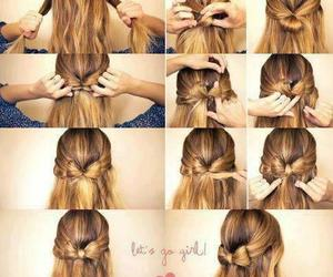 bow, style, and hair image