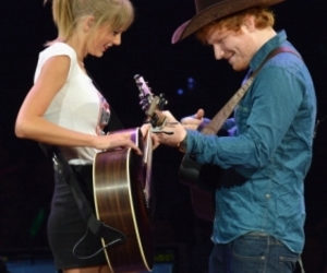 ed sheeran, Taylor Swift, and red tour image