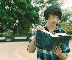 boy, harry potter, and book image