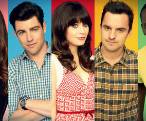 jess, nick, and zooey deschanel image