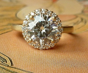 diamond, ring, and wedding ring image