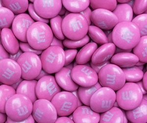 candy, pink, and m&m's image