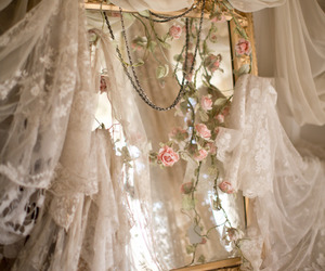 mirror, rose, and vintage image