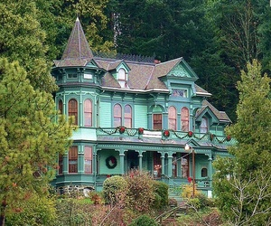 house, nature, and oregon image