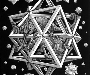 escher and stars image