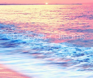 beach, chase, and dreams image