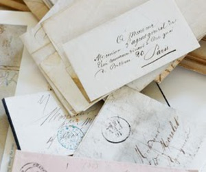 letters and vintage image