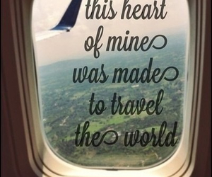 heart, travel, and love image