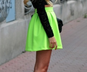 dress, ombre, and swag image