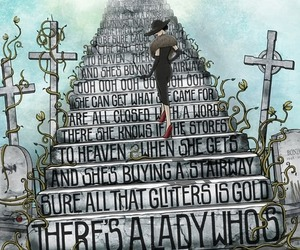 led zeppelin, stairway to heaven, and lady image