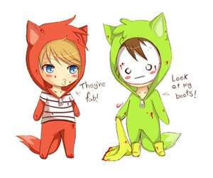chibi, cry, and foxes image