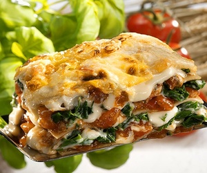 lasagna, food, and meal image