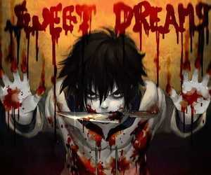 jeff the killer, creepypasta, and blood image