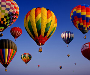balloons, baloes, and blue image