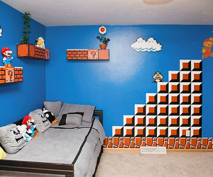 mario, room, and game image