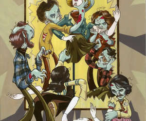 animated, zombies, and zombie image