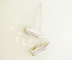 hearts, shoes, and sneakers image