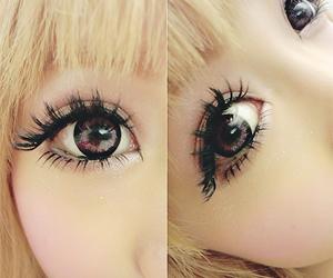 eyes, cute, and gyaru image
