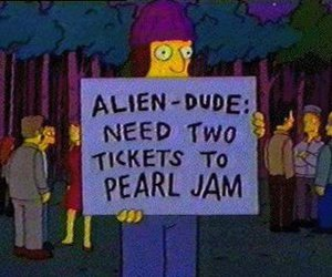 the simpsons, tickets, and pearl jam image