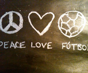 peace, love, and football image