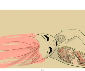 girl, pink, and tattoo image