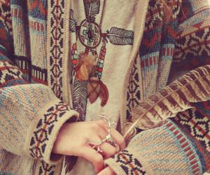 autumn, clothes, and feather image