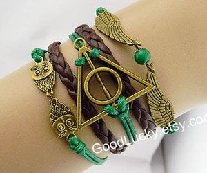bracelets, charm bracelet, and harrypotter image