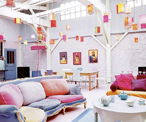 colorful, pink, and decor image