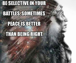peace, quote, and Battles image
