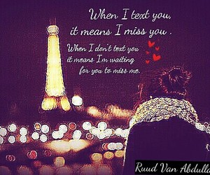 kiss, missing you, and waiting image
