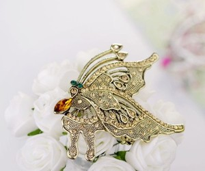 beautiful, chic, and butterfly brooch image