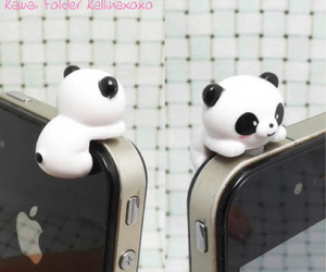 panda, iphone, and kawaii image