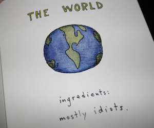 idiot, world, and quote image