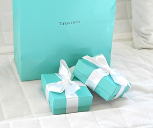 blue, tiffany, and gift image