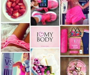 fitness, pink, and body image