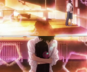anime, couple, and separate with comma image