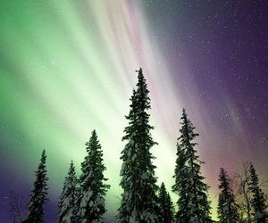 aurora boreal, beautful, and landscape image