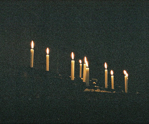candle, light, and vintage image