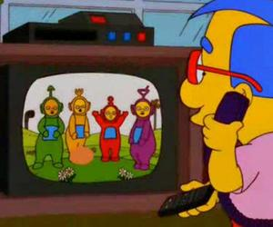 simpsons, teletubbies, and the simpsons image