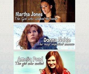 doctor who, rose tyler, and donna noble image