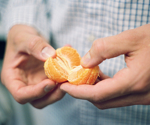 fruit, orange, and hands image