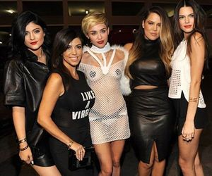 miley cyrus, kendall jenner, and kylie jenner image