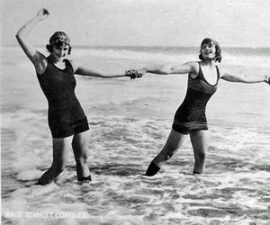 bathing beauties, black and white, and photography image