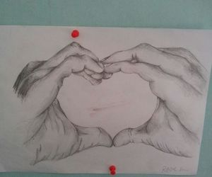 drawing, hands, and mine image