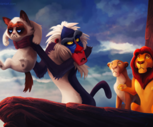disney, lol, and the lion king image