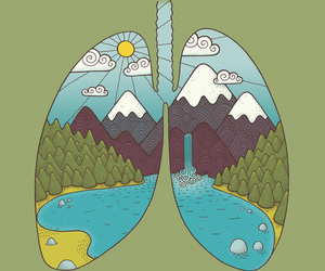 nature and lungs image